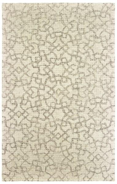 Tan, Ivory Contemporary / Modern Area Rug