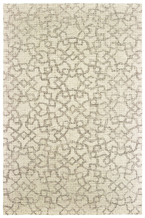 Tan, Ivory Moroccan Area Rug