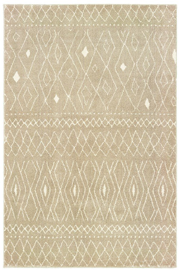 Sand, Ivory Moroccan Area Rug