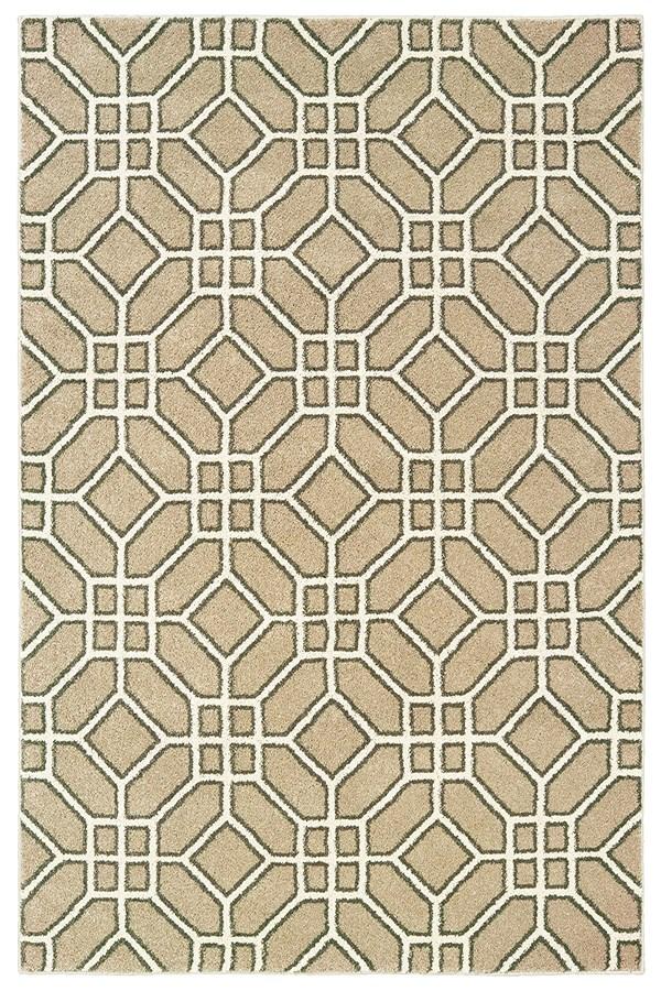Sand, Ivory Geometric Area Rug
