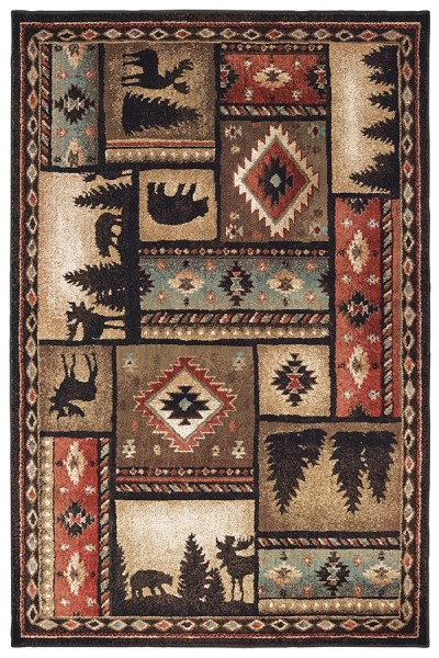 Black (C) Country Area Rug