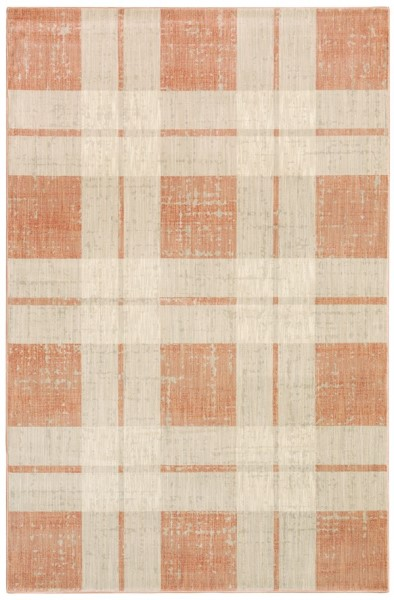 Orange, Beige (562C) Vintage / Overdyed Area Rug