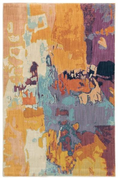 Orange, Purple, Blue Contemporary / Modern Area Rug