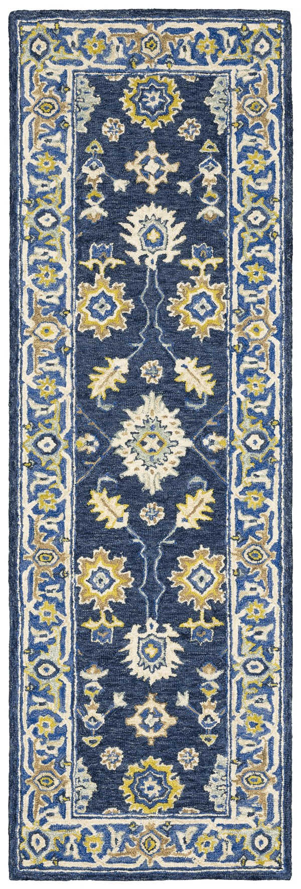Navy, Blue Transitional Area Rug