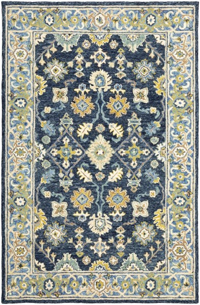 Navy, Blue Traditional / Oriental Area Rug