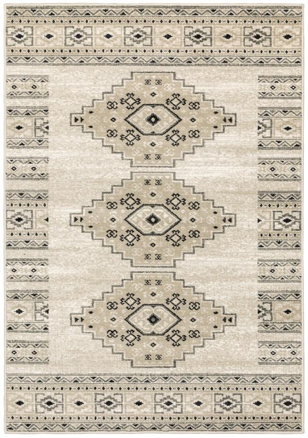 Ivory, Beige Southwestern / Lodge Area Rug