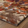 Product Image of Orange, Ivory, Blue Abstract Area Rug