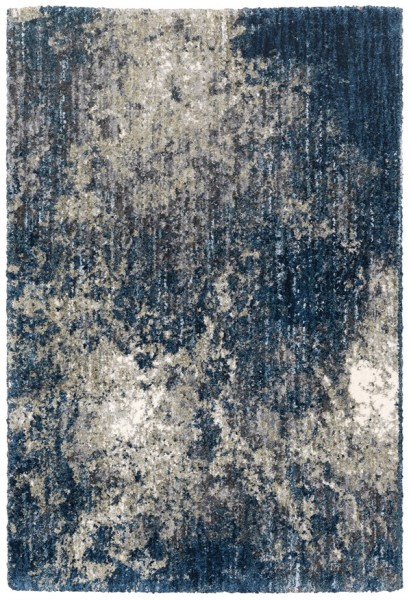 Blue (I) Shag Area Rug
