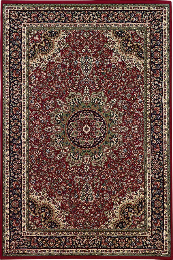 Red, Blue (116R3) Traditional / Oriental Area Rug
