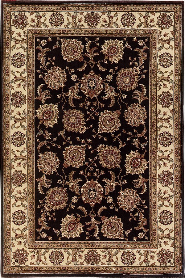 Brown, Ivory (117D3) Traditional / Oriental Area Rug