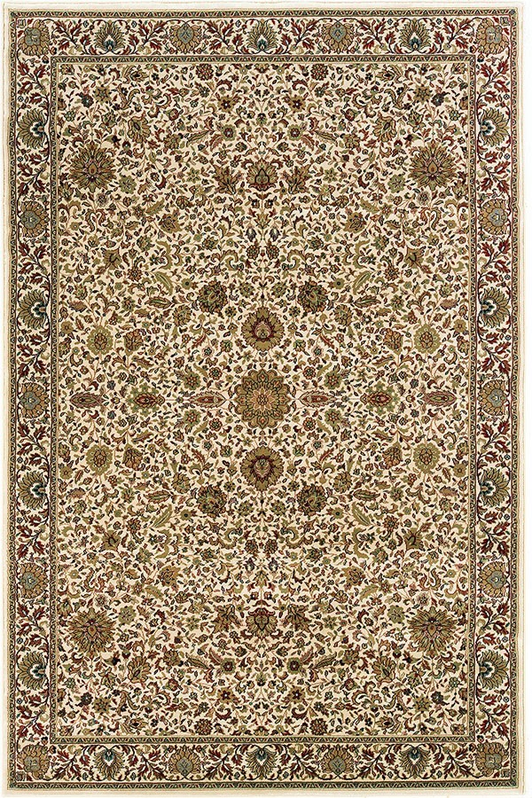 Ivory, Green (172W) Traditional / Oriental Area Rug
