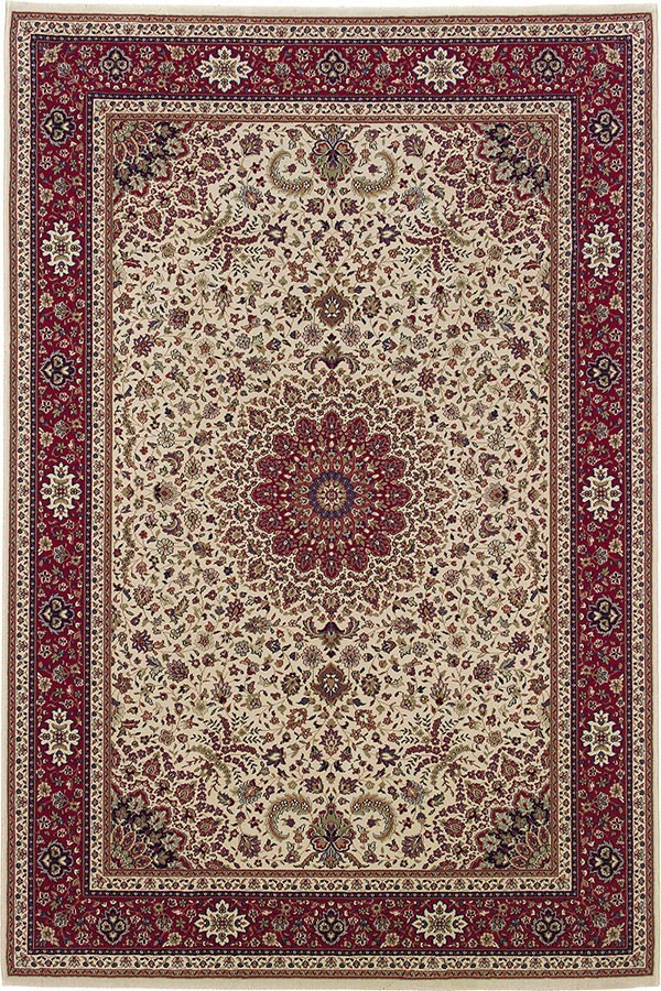 Ivory, Red (95J) Traditional / Oriental Area Rug