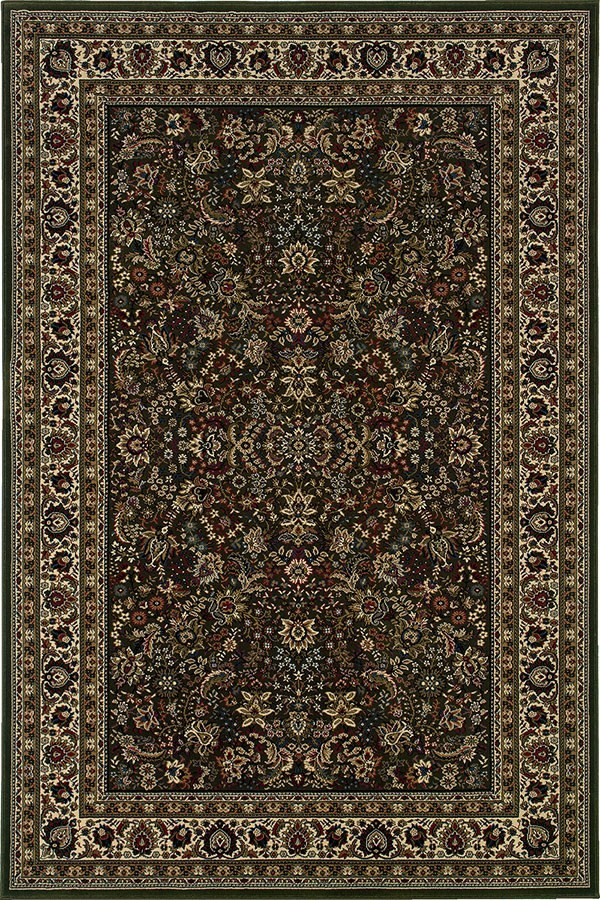 Green, Ivory (213G8) Traditional / Oriental Area Rug