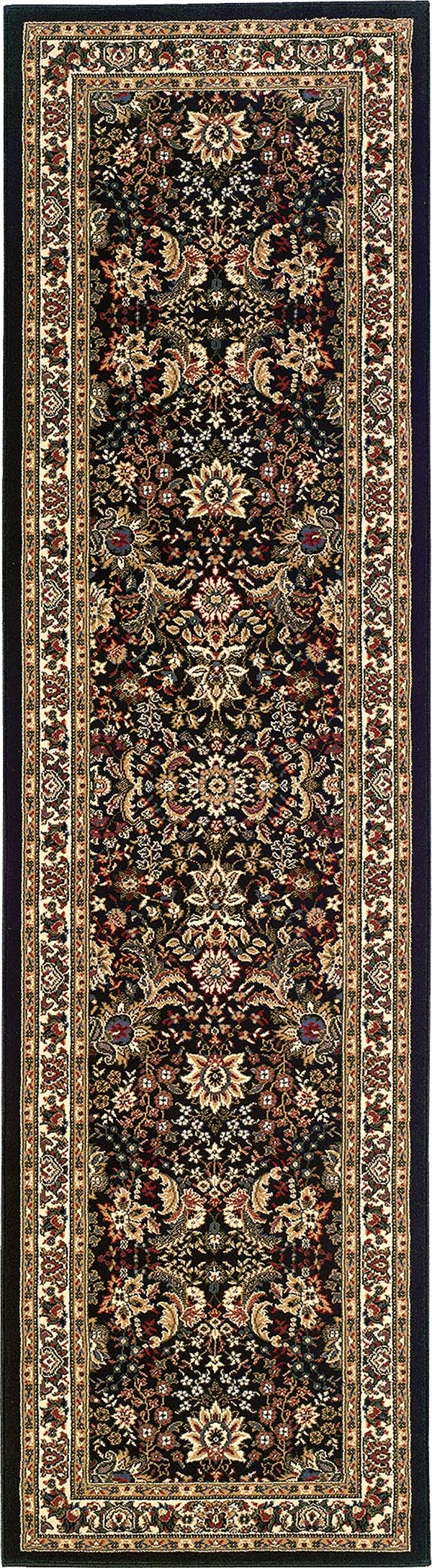 Black, Ivory (213K8) Traditional / Oriental Area Rug