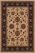 Product Image of Traditional / Oriental Ivory, Black (130-7) Area Rug