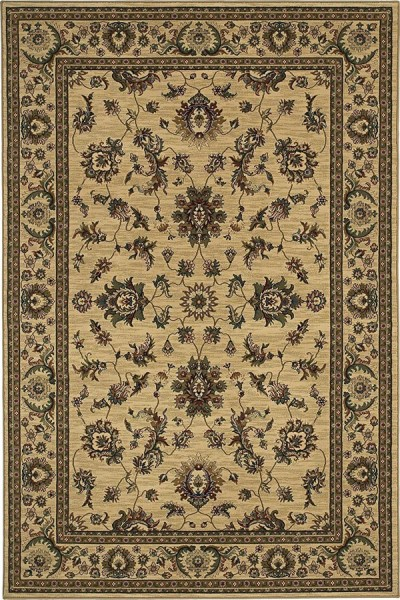 Ivory, Green (311I) Traditional / Oriental Area Rug