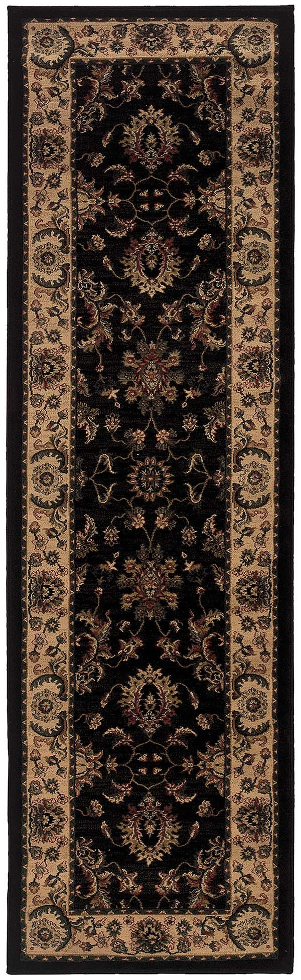 Black, Ivory (311K) Traditional / Oriental Area Rug