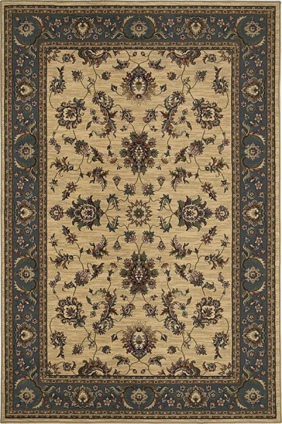 Ivory, Blue (311Z) Traditional / Oriental Area Rug