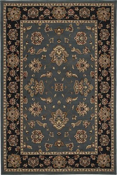 Blue, Black (623H) Traditional / Oriental Area Rug