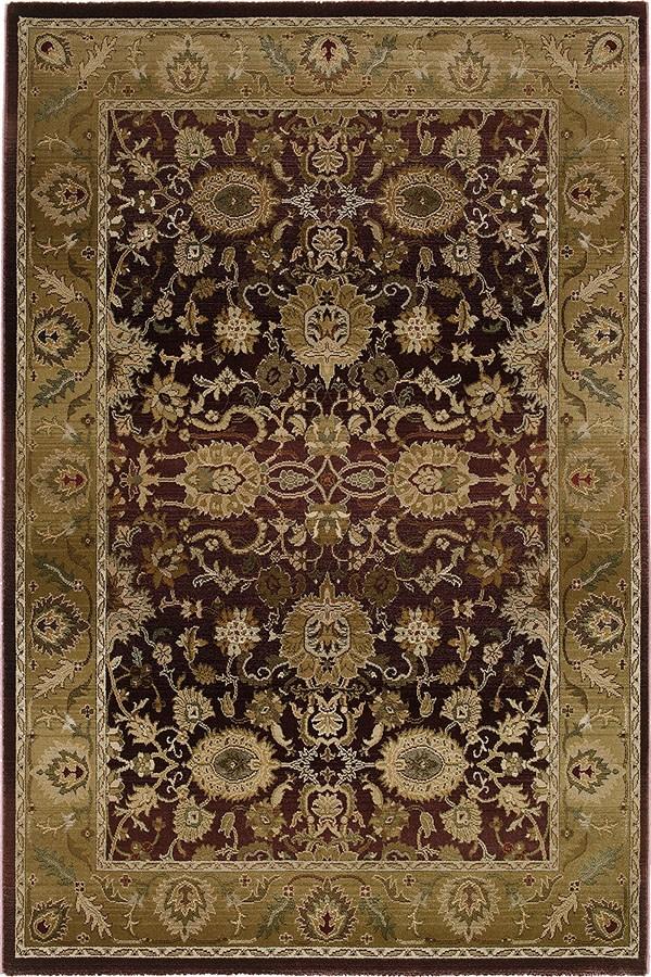Purple, Gold Traditional / Oriental Area Rug