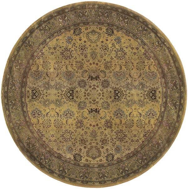 Beige, Green (3434J)   Traditional / Oriental Area Rug