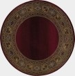 Product Image of Red, Green (3436R) Bordered Area Rug