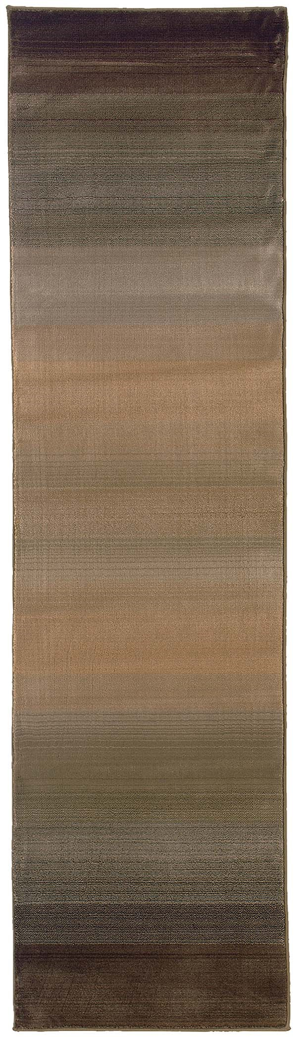 Brown, Beige   Transitional Area Rug