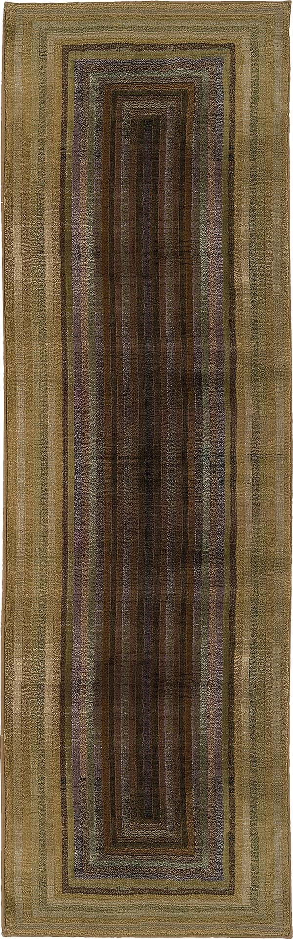 Beige, Green   Contemporary / Modern Area Rug