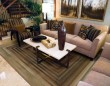 Product Image of Beige, Green   Contemporary / Modern Area Rug