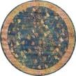 Product Image of Blue, Gold  Floral / Botanical Area Rug
