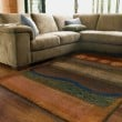 Product Image of Gold, Green (167X4) Contemporary / Modern Area Rug