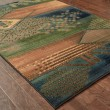 Product Image of Blue, Green (618F4) Contemporary / Modern Area Rug