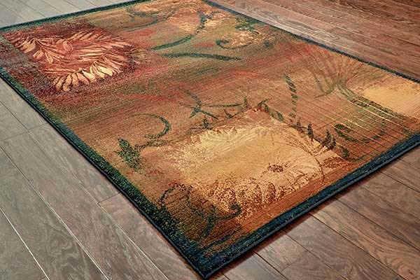 Brown, Gold (1163B) Contemporary / Modern Area Rug
