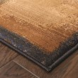 Product Image of Brown, Gold (1163B) Contemporary / Modern Area Rug