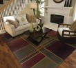 Product Image of Green, Purple (1330G) Contemporary / Modern Area Rug