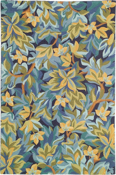 Indigo (18232) Floral / Botanical Area Rug