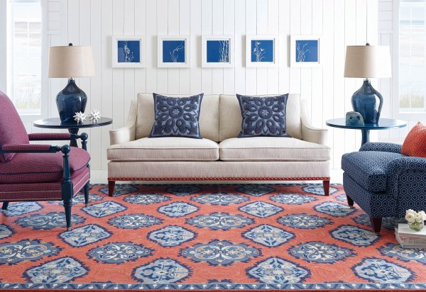 Newport Red (10720) Transitional Area Rug