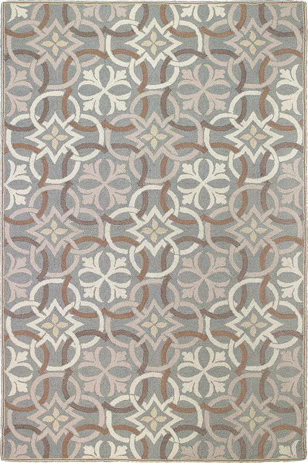 Pewter (19232) Moroccan Area Rug
