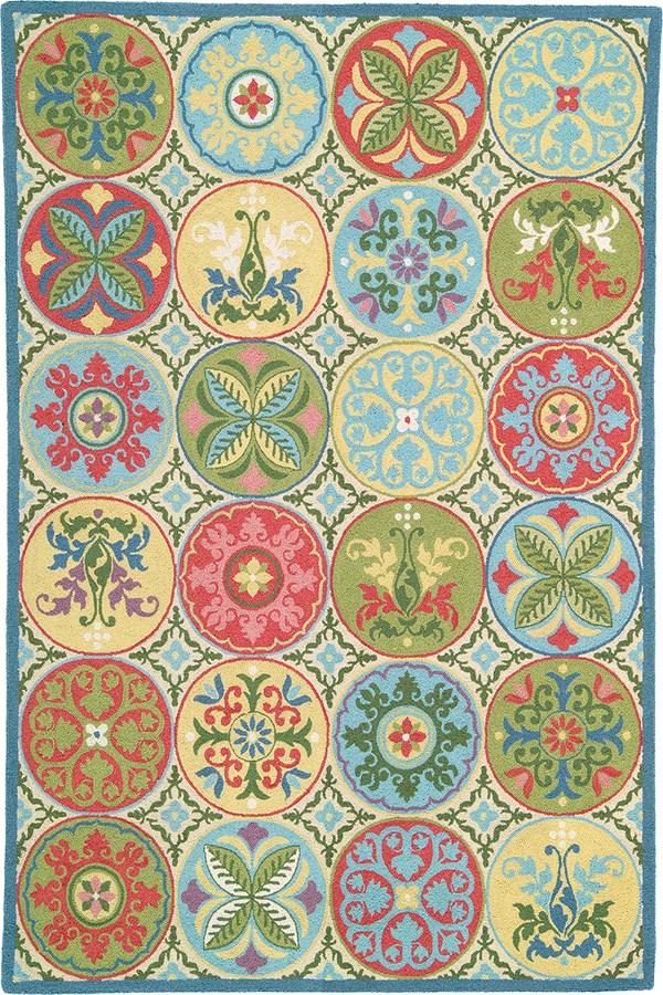 Blue (18191) Floral / Botanical Area Rug