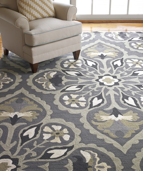 Pewter (19239) Outdoor / Indoor Area Rug