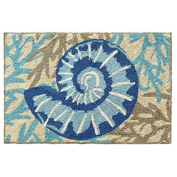 Blue (19243) Outdoor / Indoor Area Rug