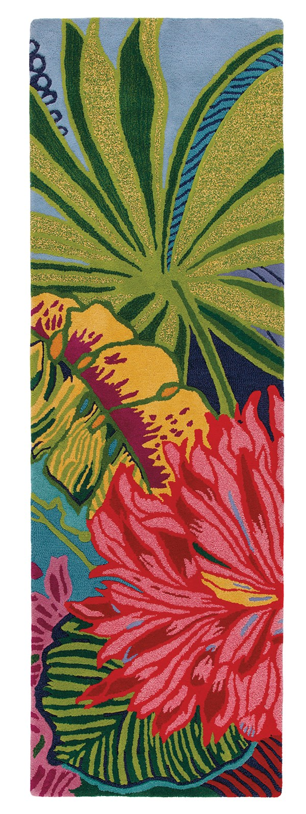 Watermelon, Green (18923) Floral / Botanical Area Rug