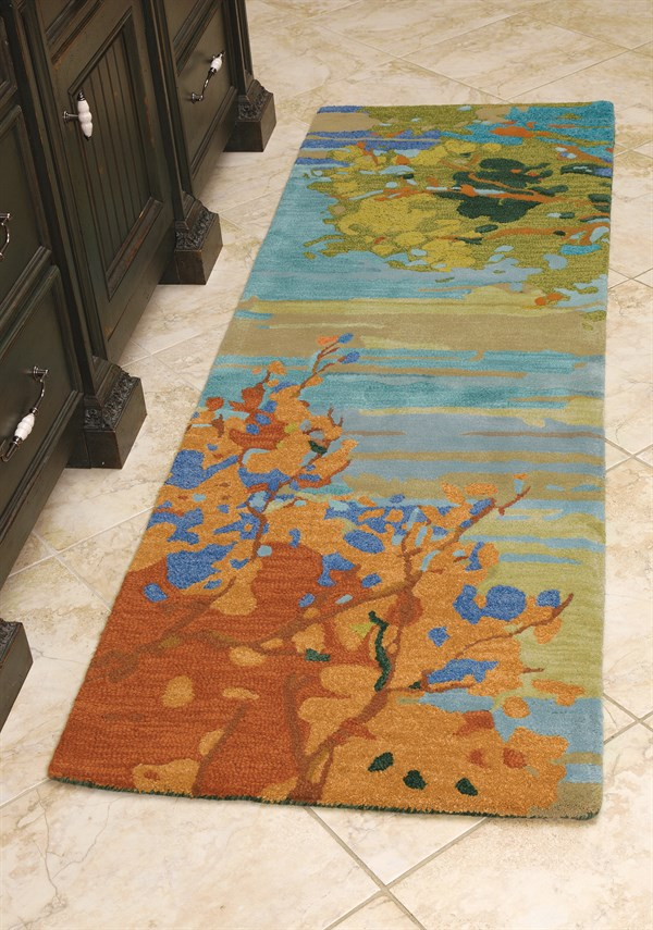 Teal (18862) Abstract Area Rug