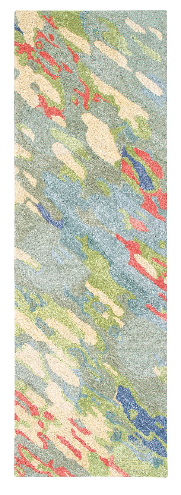 Grey, Green (10259) Abstract Area Rug