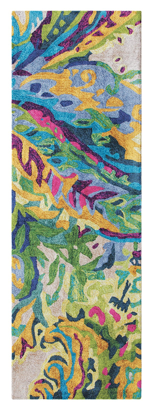 Green (10261) Abstract Area Rug