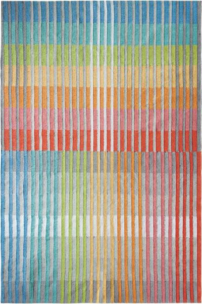 Blue, Red, Green (10191) Outdoor / Indoor Area Rug