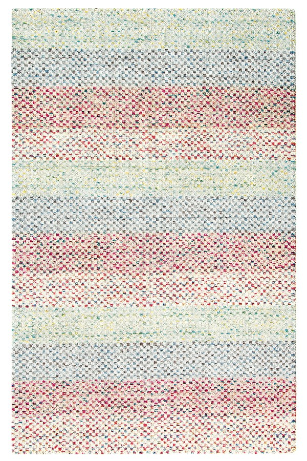 Blue, Green (10756) Striped Area Rug