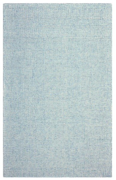 Blue, Ivory Solid Area Rug