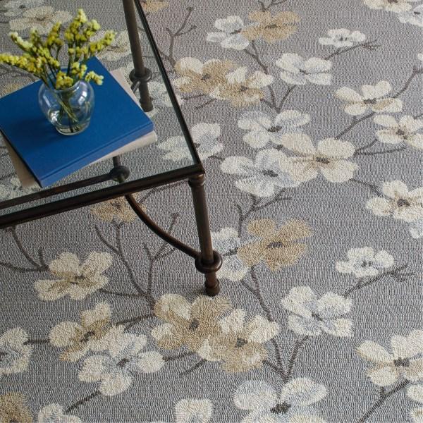 Beige, Tan, Ivory Floral / Botanical Area Rug