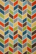 Product Image of Blue, Orange, Green Contemporary / Modern Area Rug